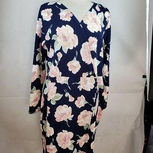 Boohoo Dresses - Boohoo Navy Pink Floral Dress Size 20